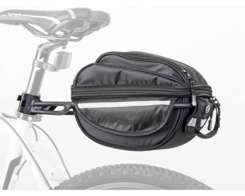 85db3279c8f1 Csomagtartó táska csomagtartóval A-N LitePack 6 X7 fekete/  fekete/fényvisszaverő fehér - AUTHOR